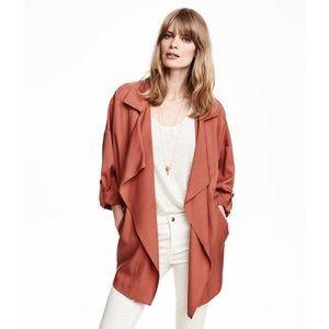 🆕H&M Wide Cut Coat in Lyocell